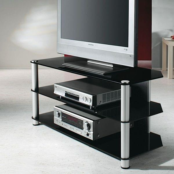 tv stand for lcd plasma led aluminium and safety glass regular or xxl s16977 s16977. Black Bedroom Furniture Sets. Home Design Ideas
