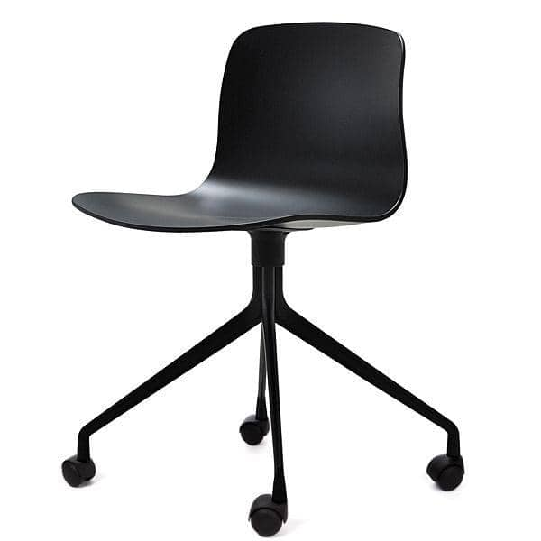 ABOUT A CHAIR - ref. AAC14 and AAC14 DUO - Polypropylene shell, aluminium legs, with wheels