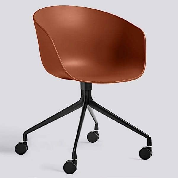 ABOUT A CHAIR ref AAC24 HAY : about chair ref aac24 polypropylene shell optional fixed cushion aluminium legs wheels from www.my-deco-shop.com size 600 x 600 jpeg 15kB