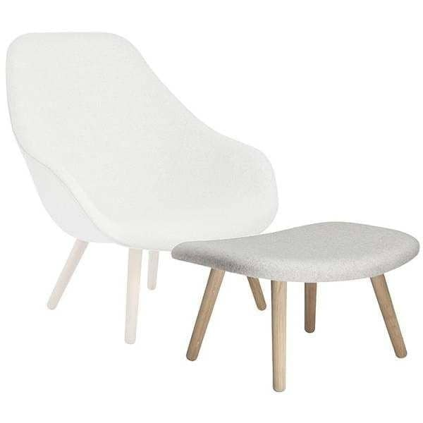 Swell Ottoman Footrest For The Series Of Armchairs About A Lounge Chair Ref Aal03 A Wide Range Of Colors 3 Finishes For The Base Andrewgaddart Wooden Chair Designs For Living Room Andrewgaddartcom