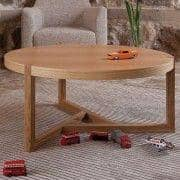 SCANDIWOOD שולחן קפה - עשה עם אלון יפה מוצק ופורניר עץ, אווירה חמה - אקולוגי, דקו ועיצוב