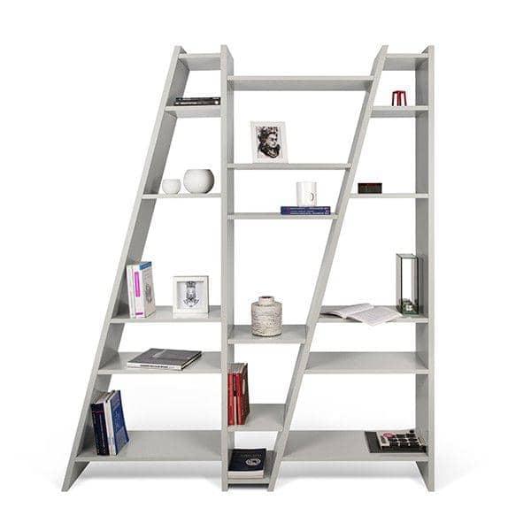 DELTA 1 til 5 søyler hylle, reversibel system, tre matte lakkering - deco og design, TEMAHOME