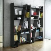 DELTA 1 a 5 shelfs colunas, sistema reversível, esteira de madeira lacagem - deco e design, TEMAHOME
