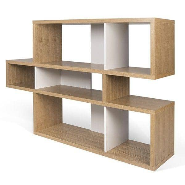 étagères contemporaines en bois, LONDON est réversible, trois dimensions, plusieurs options de finition - Design Temahome