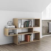 LONDON sistema Mensole, è spaziosa e contemporanea, tre dimensioni, diverse opzioni di finitura, sistema reversibile - TEMAHOME