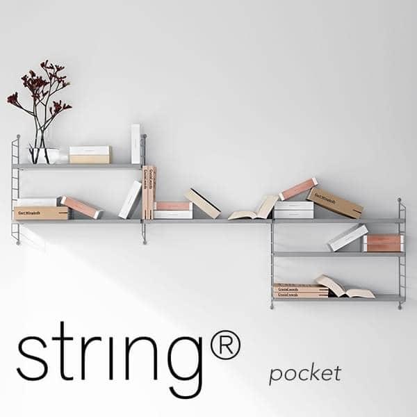 STRING POCKET modulhyllesystem, den originale versjonen, produsert i sverige. - Deco og design