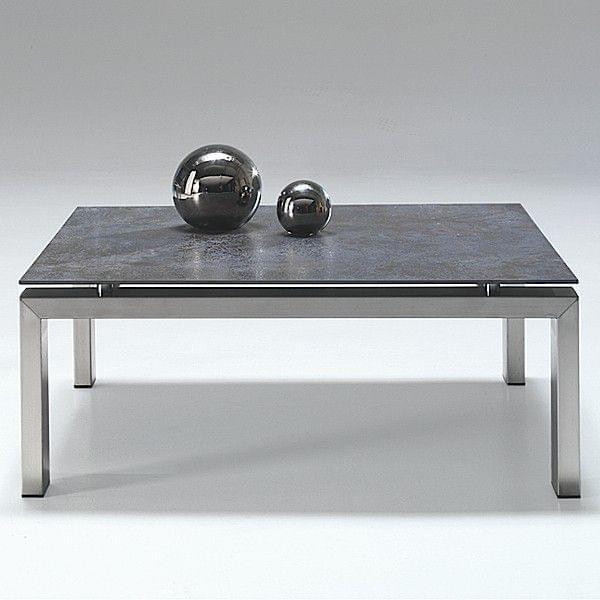 La table wings chrominox plateau en c ramique structure for Table exterieur ceramique