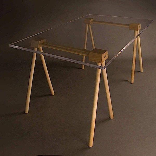 tr teaux done en bois massif h tre huil robba edition. Black Bedroom Furniture Sets. Home Design Ideas