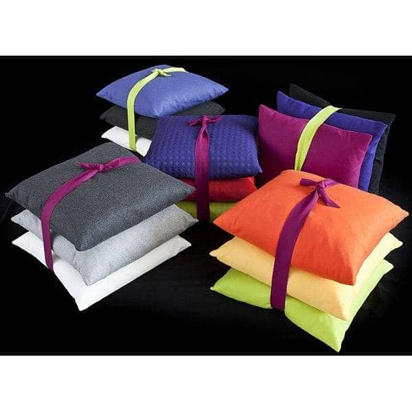MILAN cushions (45 x 45 cm) or SWING cushions (60 x 60 cm) indoor or outdoor, an exceptional choice of fabrics and colors
