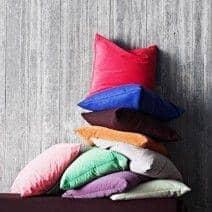 MILAN almofadas (45 x 45 cm) ou SWING almofadas (60 x 60 cm), uma escolha excepcional interior ou exterior de tecidos e cores - deco e design, SOFTLINE
