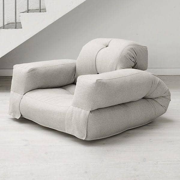 Hippo un sill n o un sof que se convierte en un c modo for Mueble que se convierte en cama