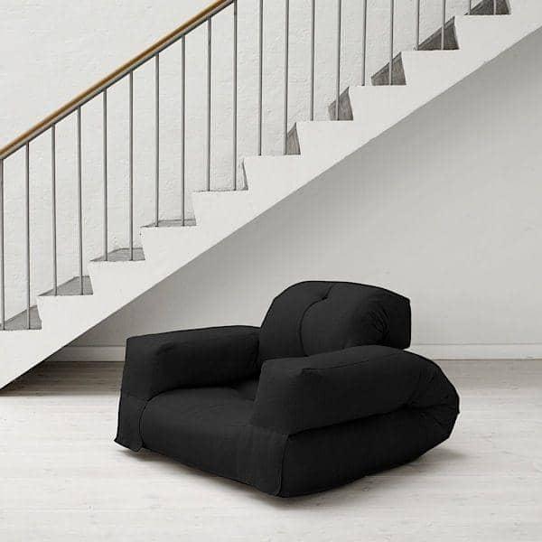 HIPPO, una poltrona o un divano, che si trasforma in un comodo letto extra futon in pochi secondi - deco e design