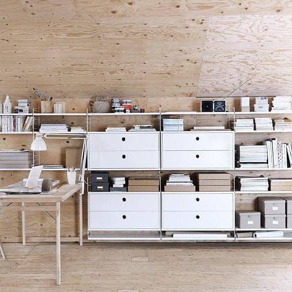 STRING SYSTEM, lage din egen modulær lagrings system, fra A til Z - Original versjon, designet og produsert i Sverige - deco og design