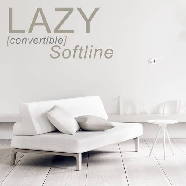 El sofá-cama LAZY, convertir su sofá en una cama en el segundo. deco y el diseño, SOFTLINE