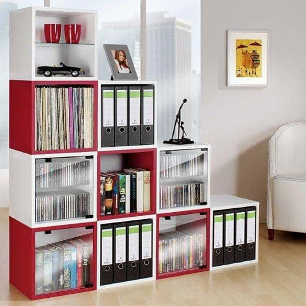 QUATTRO CUBE Shelves Lacquered MDF Or Wood MADE IN GERMANY - Cube shelves