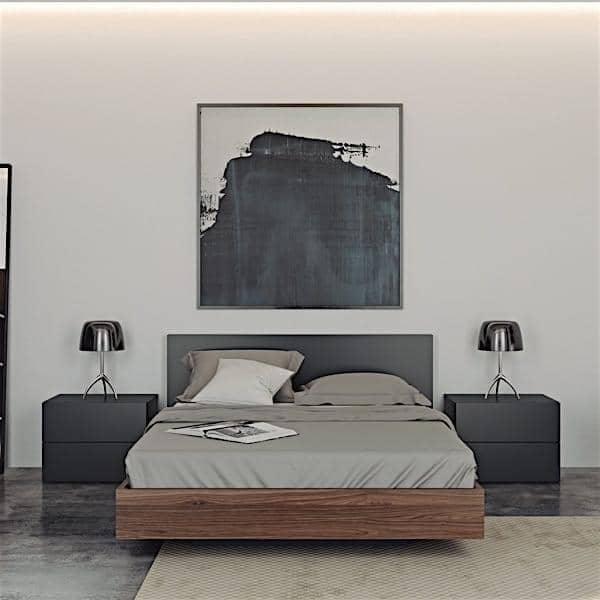 Float, un lit 153 x 200 cm, 160 x 200 cm ou 180 x 200 cm, proposé en de superbes finitions, avec ou sans tête de lit