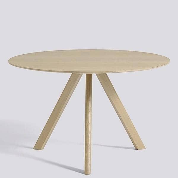La mesa redonda de copenhague cph20 y chp25 hecha en for Mesa redonda diseno madera