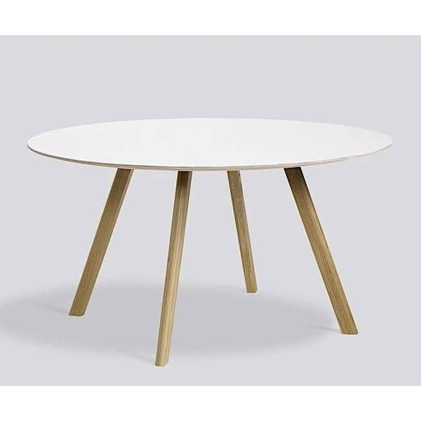 The copenhague round table cph20 and chp25 made in solid wood and plywood by ronan and erwan - Table copenhague bouroullec ...