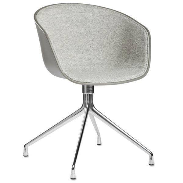 Le fauteuil DUO About a Chair par HAY - réf. AAC20 DUO - dossier en polypropylène apparent, assise en tissu monté sur mousse Oeko-Tex, coussin en option, piétement en aluminium - l'art du design nordique