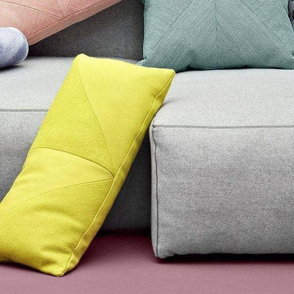MAGS SOFA SOFT ، مع طبقات مقلوب، وحدات وحدات والأقمشة والجلود: إنشاء sofa الخاصة بك، HAY