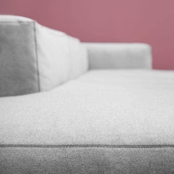 MAGS SOFA SOFT, con cuciture invertite, unità modulari, tessuti e pelli: creare il proprio sofa, HAY