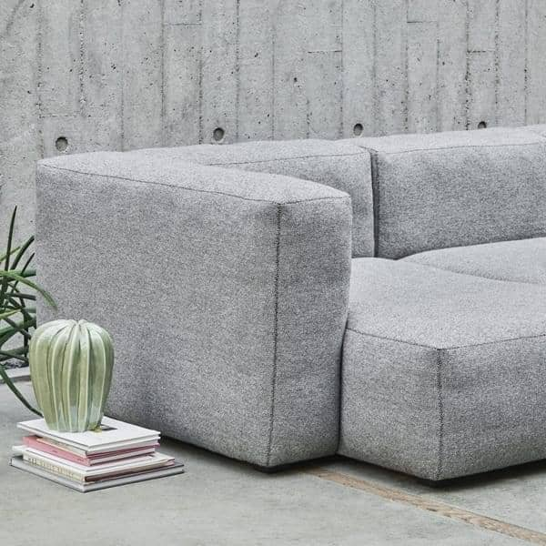 sofa soft, with inverted seams, modular units (fabrics version