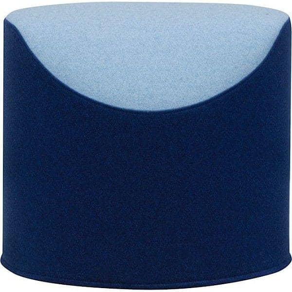 CORAL, un pouf bicolore très confortable et original, une création Busk+Hertzog pour Softline
