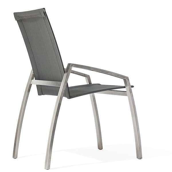 ALCEDO Sillón, específico para mesas de comedor, de acero inoxidable y  BATYLINE, Ref 2MD y 2MR, fabricados en Europa, por TODUS
