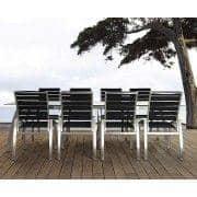 Cadeira, ALCEDO - EB, aço inoxidável e cintos elásticos, interior e exterior, feito na Europa por TODUS - projetado por JIRI SPANIHEL