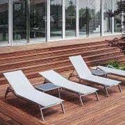 Sonnenliege, ALCEDO, Edelstahl und BATYLINE, Innen-und Außenbereich, in Europa gemacht TODUS - entworfen von JIRI SPANIHEL