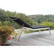 Sunlounger, ALCEDO - EB, aço inoxidável e cintos elásticos, interior e exterior, feitos na Europa por TODUS - desenhado por JIRI SPANIHEL