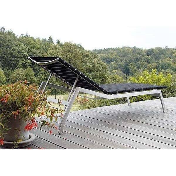 Sonnenliege, ALCEDO - EB, Edelstahl und elastischen Riemen, Innen-und Außenbereich, in Europa gemacht TODUS - entworfen von JIRI SPANIHEL