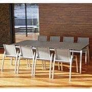 Dining table, ALCEDO FORNIX F2 by TODUS, timeless, robust, clean lines, with or without extension: perfect for use on the terrace or in your living room