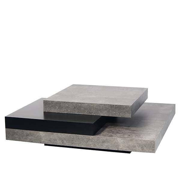 Slate table basse l 39 effet b ton avec la souplesse de mat riaux l gers - Table basse effet beton ...