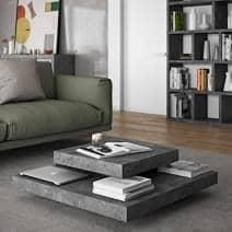 SLATE, table basse : l'effet béton avec la souplesse de matériaux légers - designer : INÊS MARTINHO