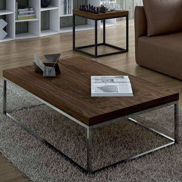 Prairie mesa de centro y mesa temahome madera de chapa o for Mesa centro marmol