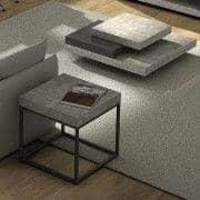 PETRA, sofabord og sidebord: beton aspekt og stål, uden beton - skabt af IN eS MARTINHO