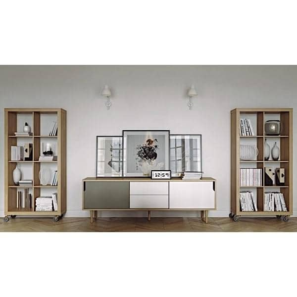 ... ROLLY, Shelves Mounted On Wheels For Maximum Mobility, Oak Or Pure  White ...