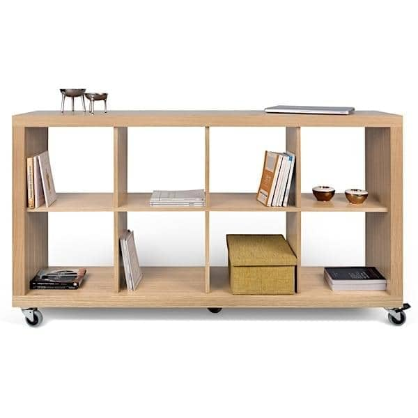 Beautiful ROLLY, Shelves Mounted On Wheels For Maximum Mobility, Oak Or Pure White ...