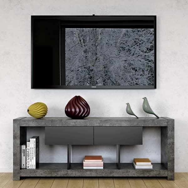 meuble tv qui trouvera sa place adossé à un mur ou au milieu du ... - My Design Meuble