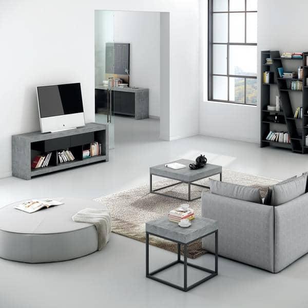NARA, Meuble TV qui trouvera sa place adossé à un mur ou au milieu du salon  -> Meuble Tv Qui Tourne