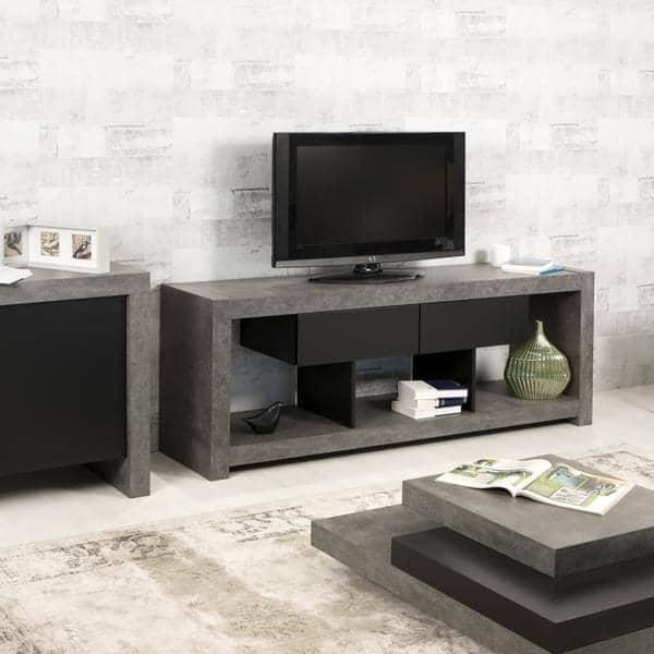 Meuble Tv Fixe Au Mur Maison Design - Meuble Tv Au Mur - Vuil.co