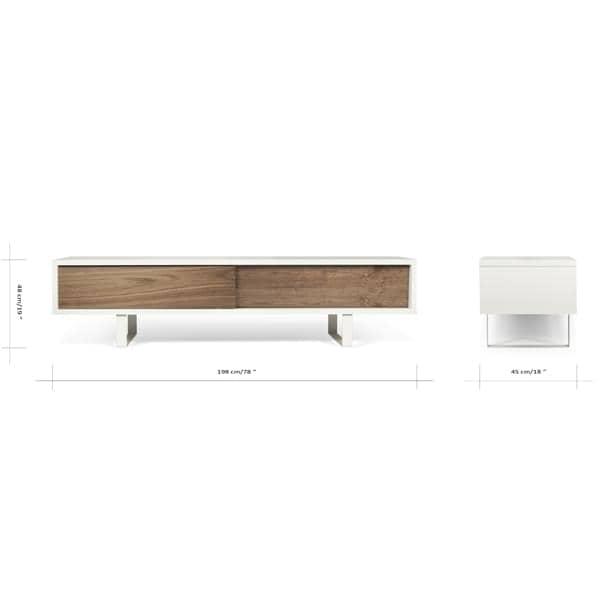 SLIDE, meuble tv ou buffet bas, un pied métal tout en légèreté, portes coulissantes, pour un espace moderne - designer : NUNO HENRIQUES