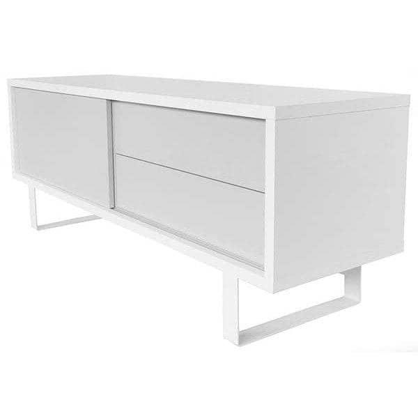 NILO, TV mesa ou aparador baixo: pernas de metal, porta de correr, gavetas. Nada está faltando - desenhado por TEMAHOME