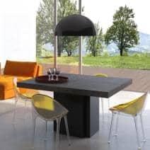 DUSK, tavolo da pranzo quadrato, 130 o 150 cm, quasi una scultura! - Creazione di Delio VICENTE