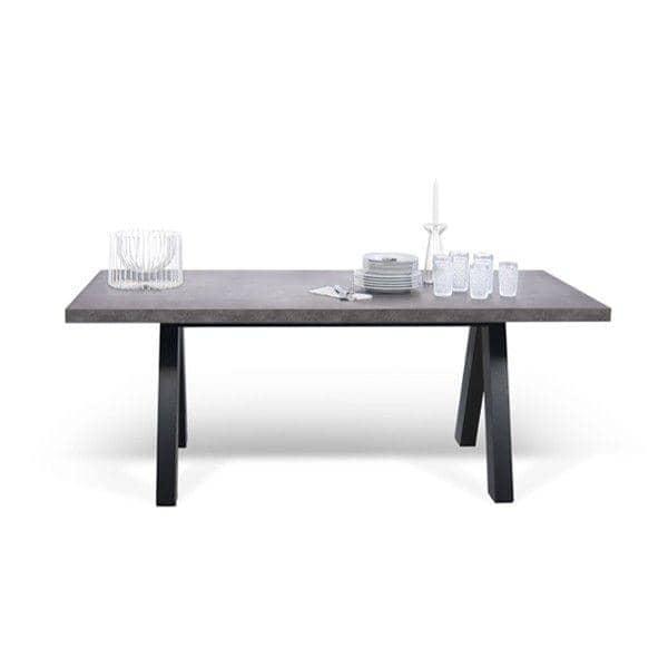Mesa de jantar APEX, compacta ou expansível 200/250 cm x 100 cm: aspecto concreto