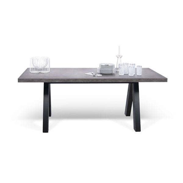 APEX spisebord, kompakt eller uttrekkbar 200/250 cm x 100 cm: betongaspekt