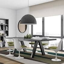 APEX mesa de comedor, compacto o extensibles 200/250 cm x 100 cm: aspecto concreto o roble salvaje - Diseñador: Vincente Délio