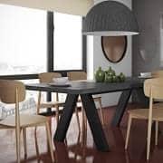 APEX Esstisch, kompakt oder ausziehbar 200/250 cm x 100 cm: Betonoptik