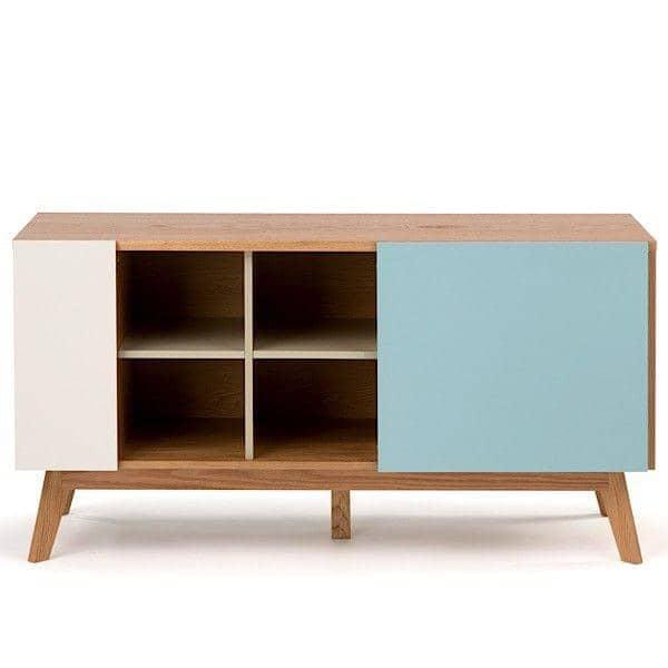 buffet en ch ne chaser 4 tiroirs 1 porte coulissante et. Black Bedroom Furniture Sets. Home Design Ideas